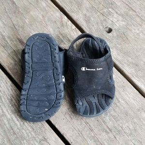 Champion Little Black Sandles Size 4W